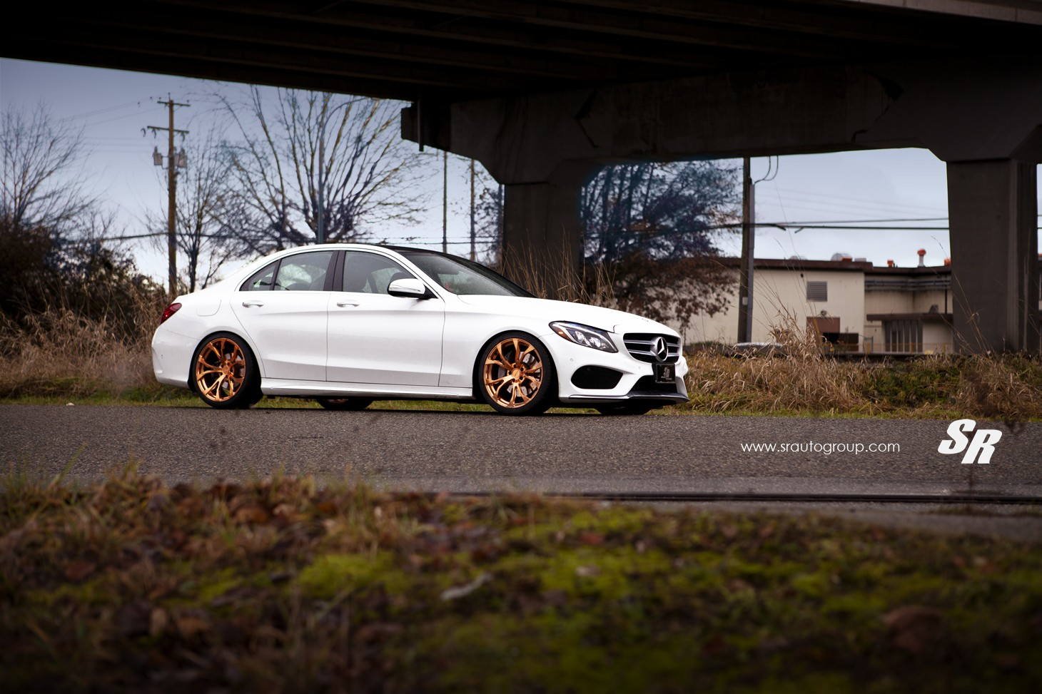 2015 Mercedes C300 Gets Gold Pur Wheels  Shows Its Rich