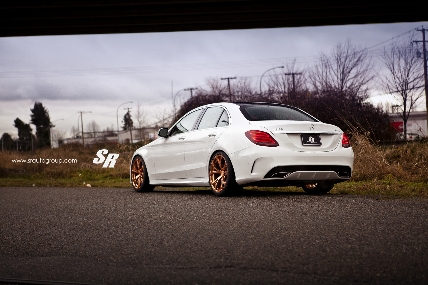 2015 mercedes c300 gets gold pur wheels shows its rich for Mercedes benz c300 rims