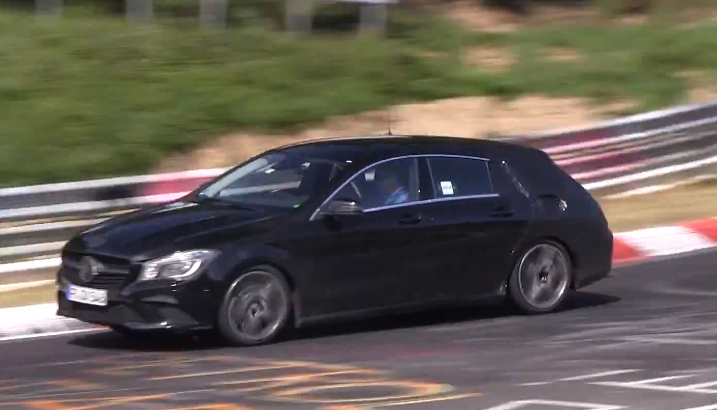 2015 mercedes cla shooting brake x117 pushed hard at nurburgring autoevolution. Black Bedroom Furniture Sets. Home Design Ideas