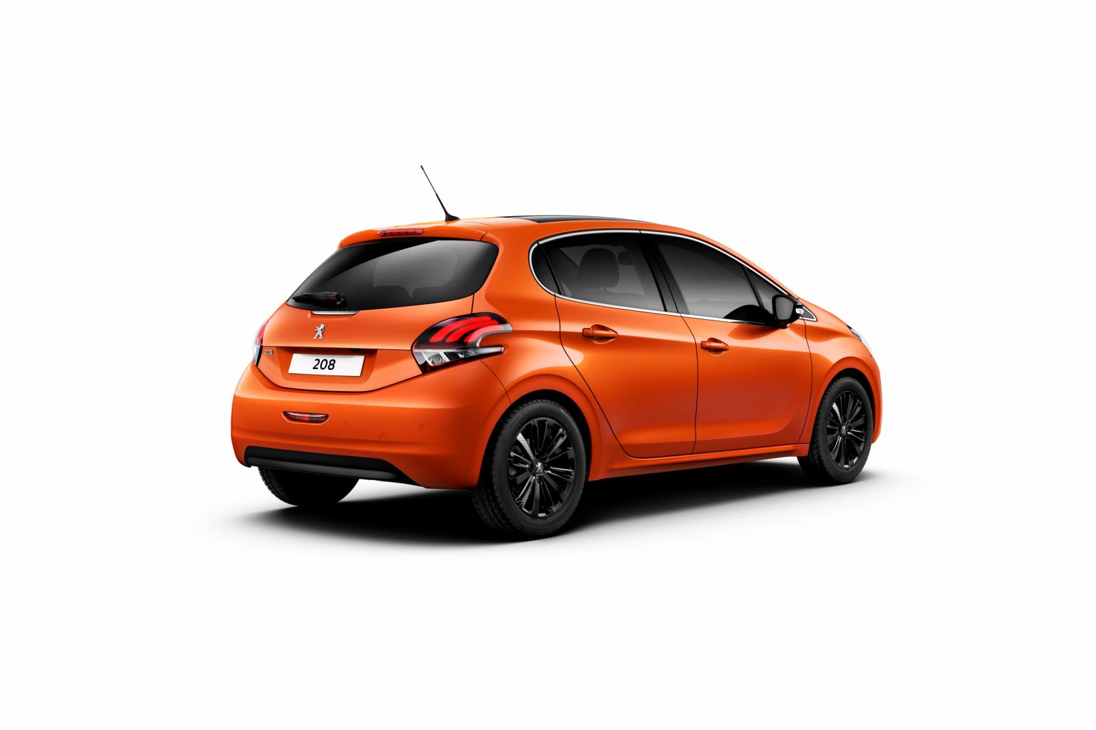 2015 peugeot 208 facelift revealed complete with 1 2 turbo and orange paint autoevolution. Black Bedroom Furniture Sets. Home Design Ideas