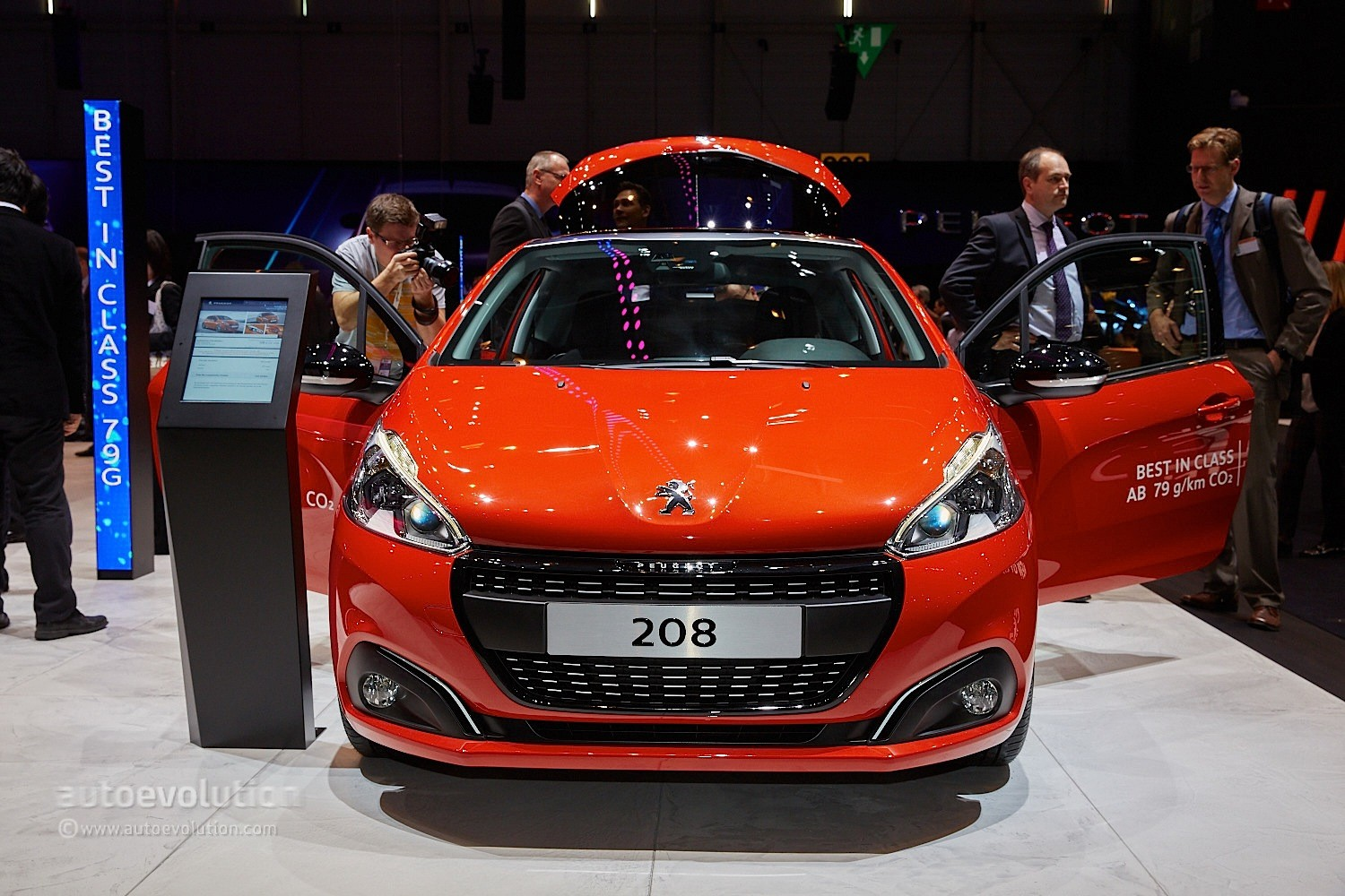 Volkswagen Group Latest Models >> 2015 Peugeot 208 Thinks Blue in Geneva with 79-Gram Eco ...