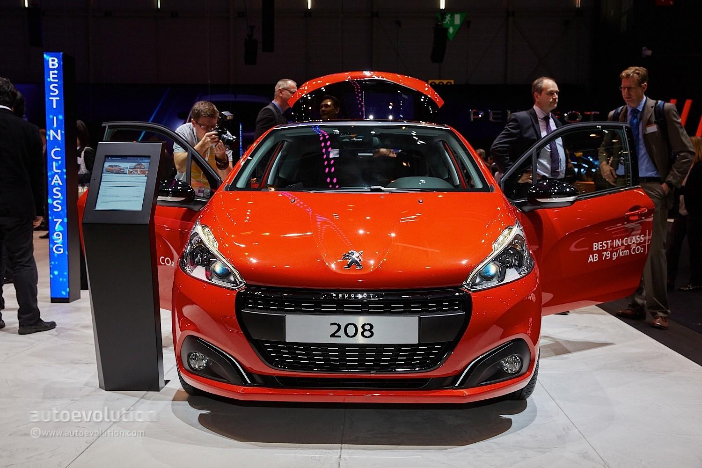 New Peugeot 208 2018 >> 2015 Peugeot 208 Thinks Blue in Geneva with 79-Gram Eco Model - autoevolution