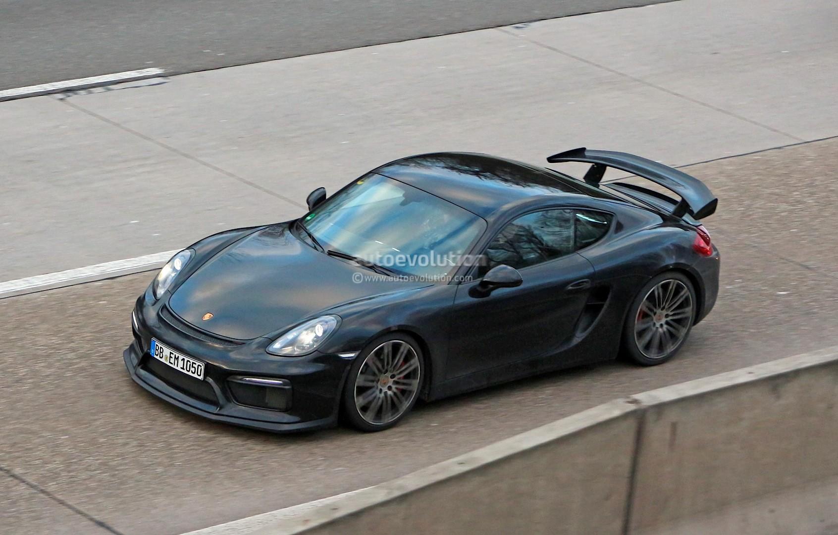2015 porsche cayman gt4 completely revealed in latest spy photos gets production wing autoevolution - Porsche Cayman 2015 Gt4
