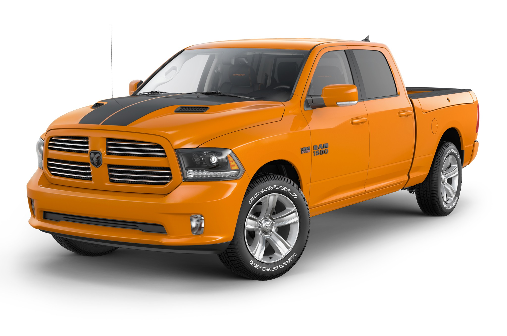Blacked Out Ram >> 2015 Ram 1500 Ignition Orange Sport & Black Sport Editions Limited to 1,000 Units Each ...