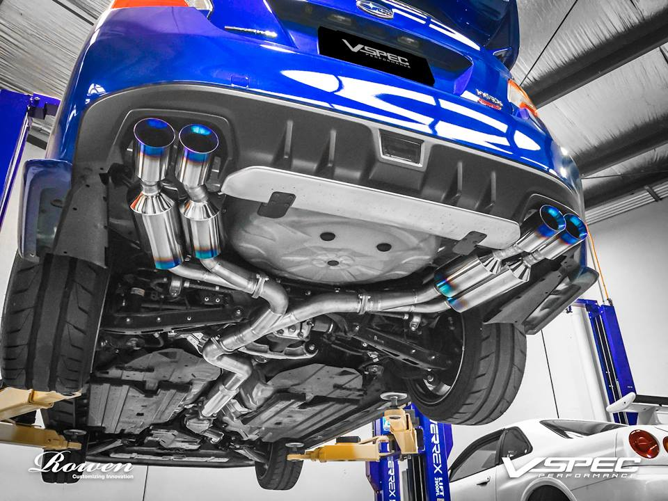 2015 Subaru WRX STI Gets Titanium Exhaust from Rowen