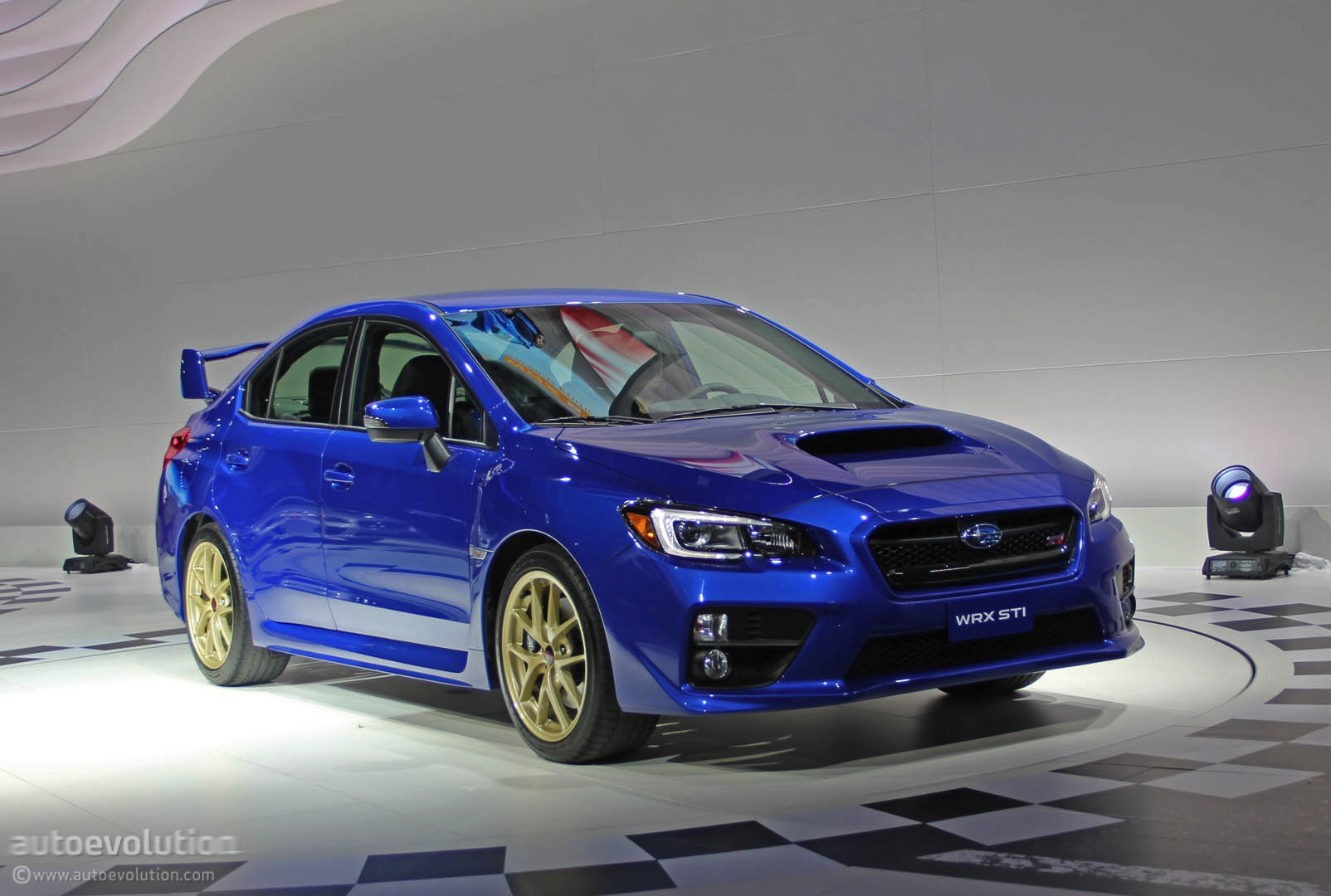 2015 subaru wrx sti is winged to the teeth live photos autoevolution. Black Bedroom Furniture Sets. Home Design Ideas