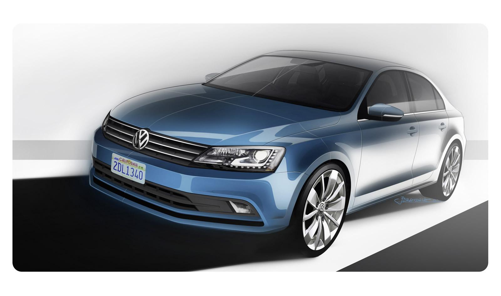 2015 Volkswagen Jetta Revealed: Cosmetic Tweaks and New TDI - autoevolution