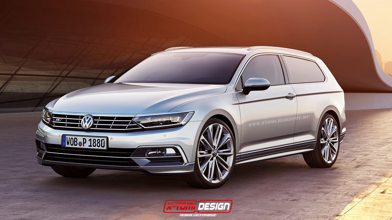 2015 volkswagen passat coupe and shooting brake rendered autoevolution. Black Bedroom Furniture Sets. Home Design Ideas