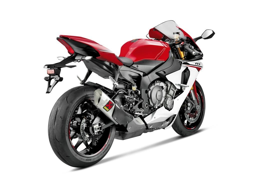 2015 yamaha yzf r1 receives motogp like titanium exhaust from akrapovic autoevolution. Black Bedroom Furniture Sets. Home Design Ideas