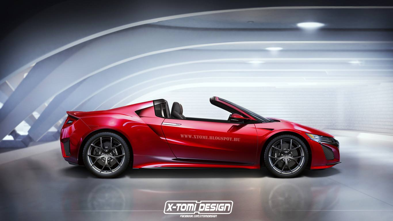 2016 Acura Nsx Targa Rendered Makes Sense Historically