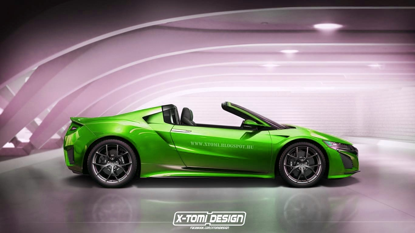 2016 Acura NSX Targa Rendered: Makes Sense Historically - autoevolution