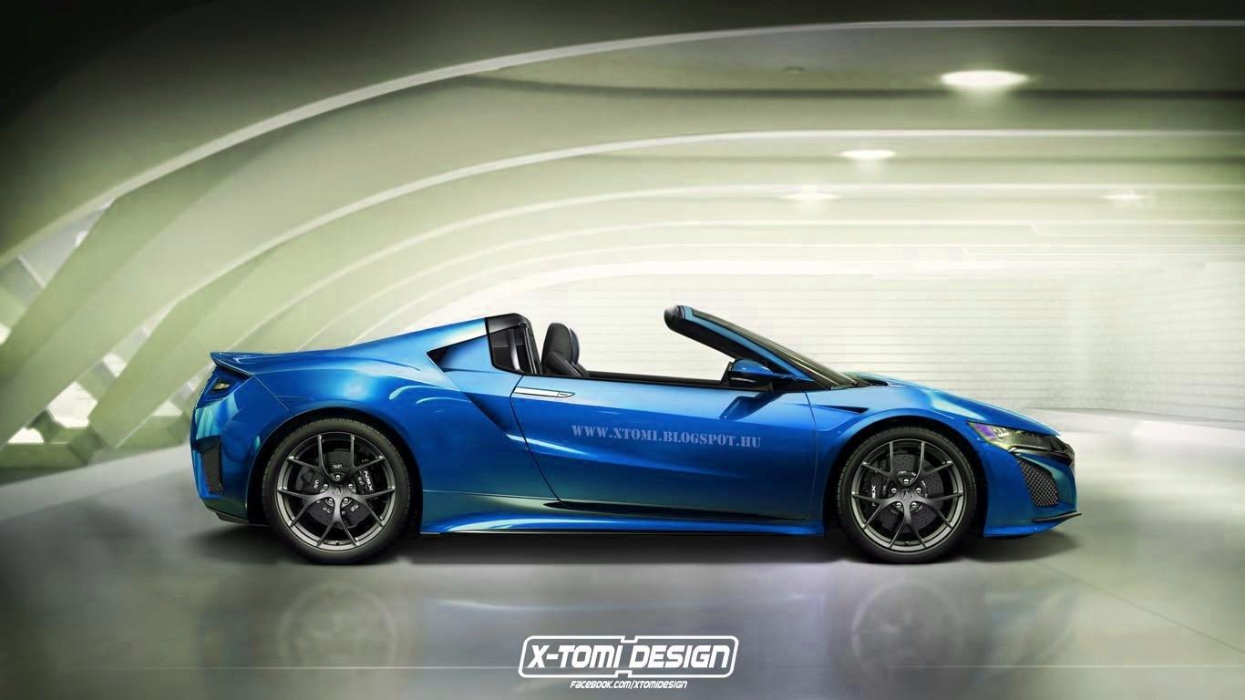 2016 Acura Nsx Targa Rendered Makes Sense Historically Autoevolution