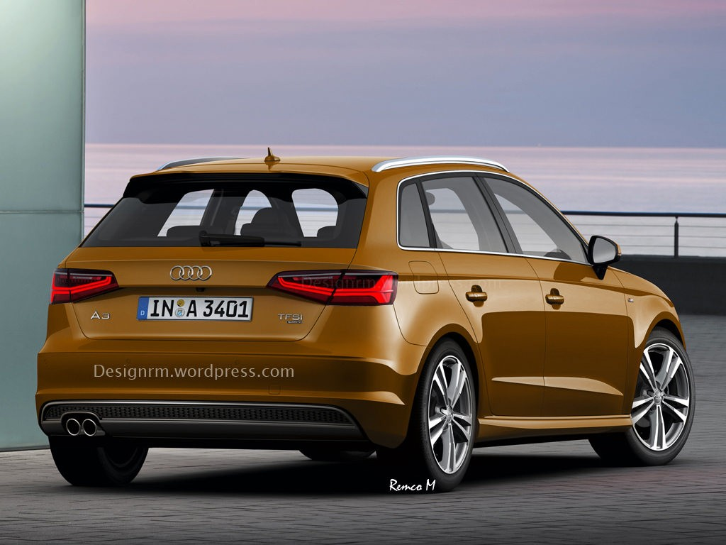 2016 audi a3 facelift rendered with new matrix led for Audi a3 3 puertas