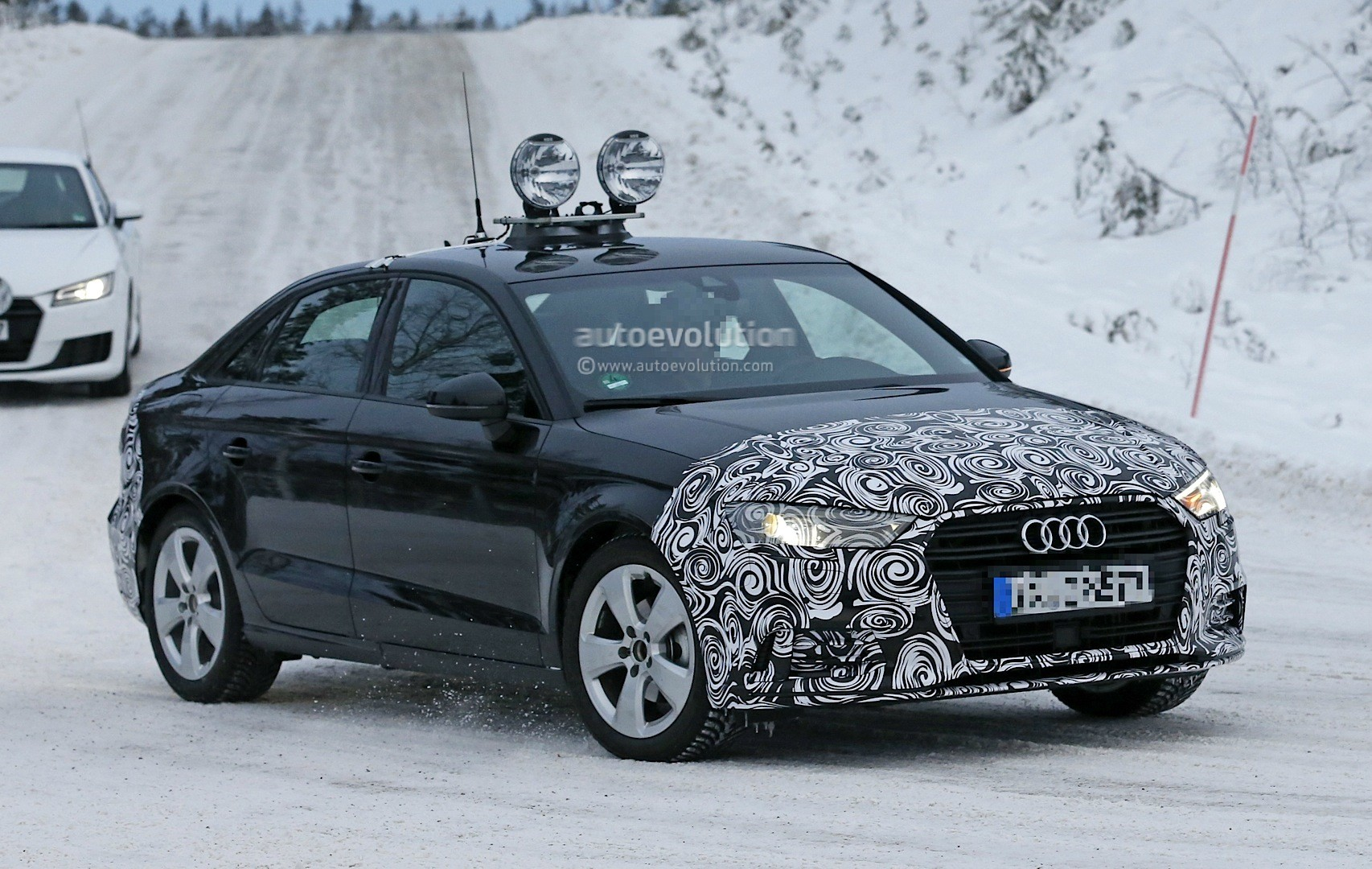 2016 audi a3 sedan facelift spied for the first time starts winter testing with tt autoevolution. Black Bedroom Furniture Sets. Home Design Ideas
