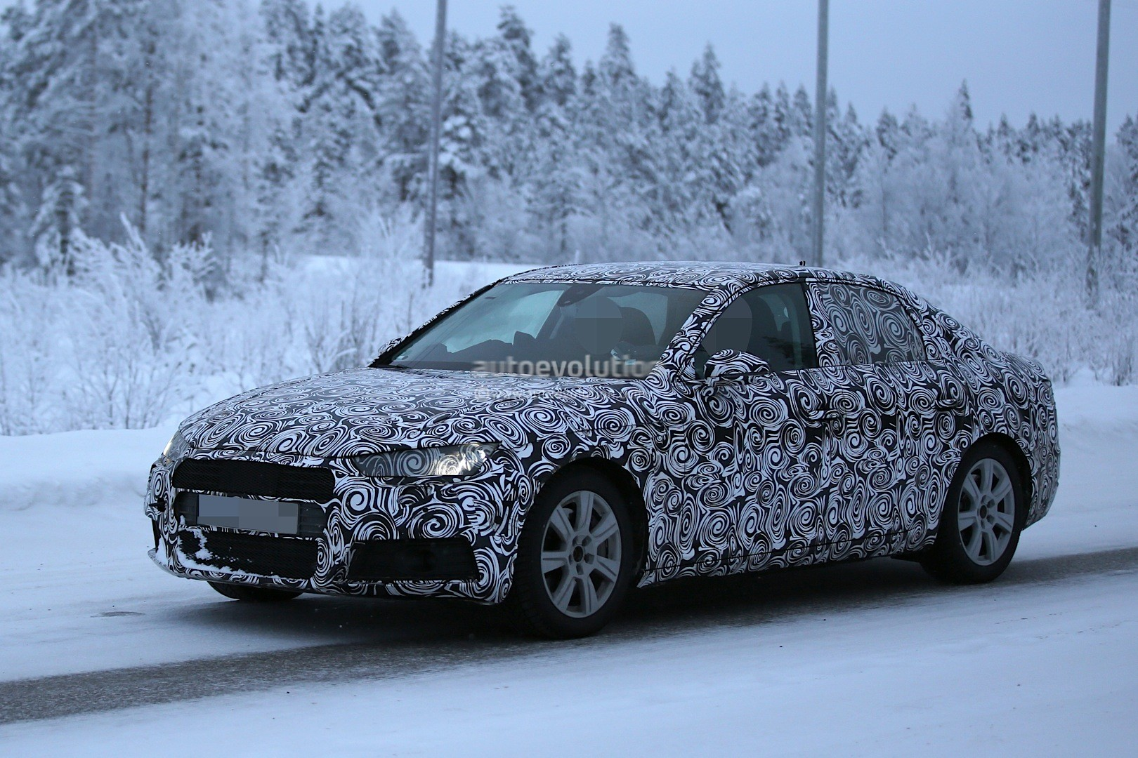 2016 Audi A4 Spied with Production Body During Winter Testing Session - autoevolution
