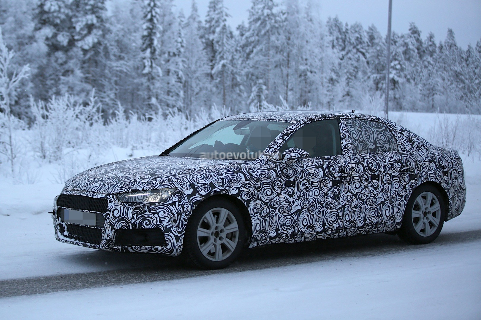 2016 Audi A4 Spied With Production Body During Winter