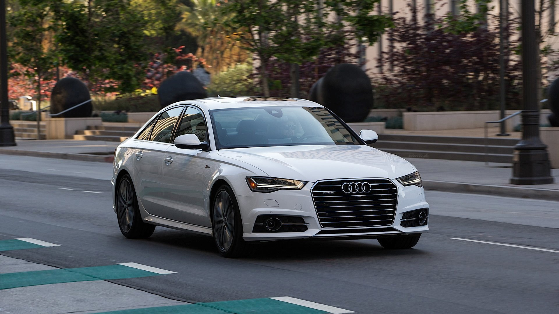 2017 audi a6 white 200 interior and exterior images. Black Bedroom Furniture Sets. Home Design Ideas