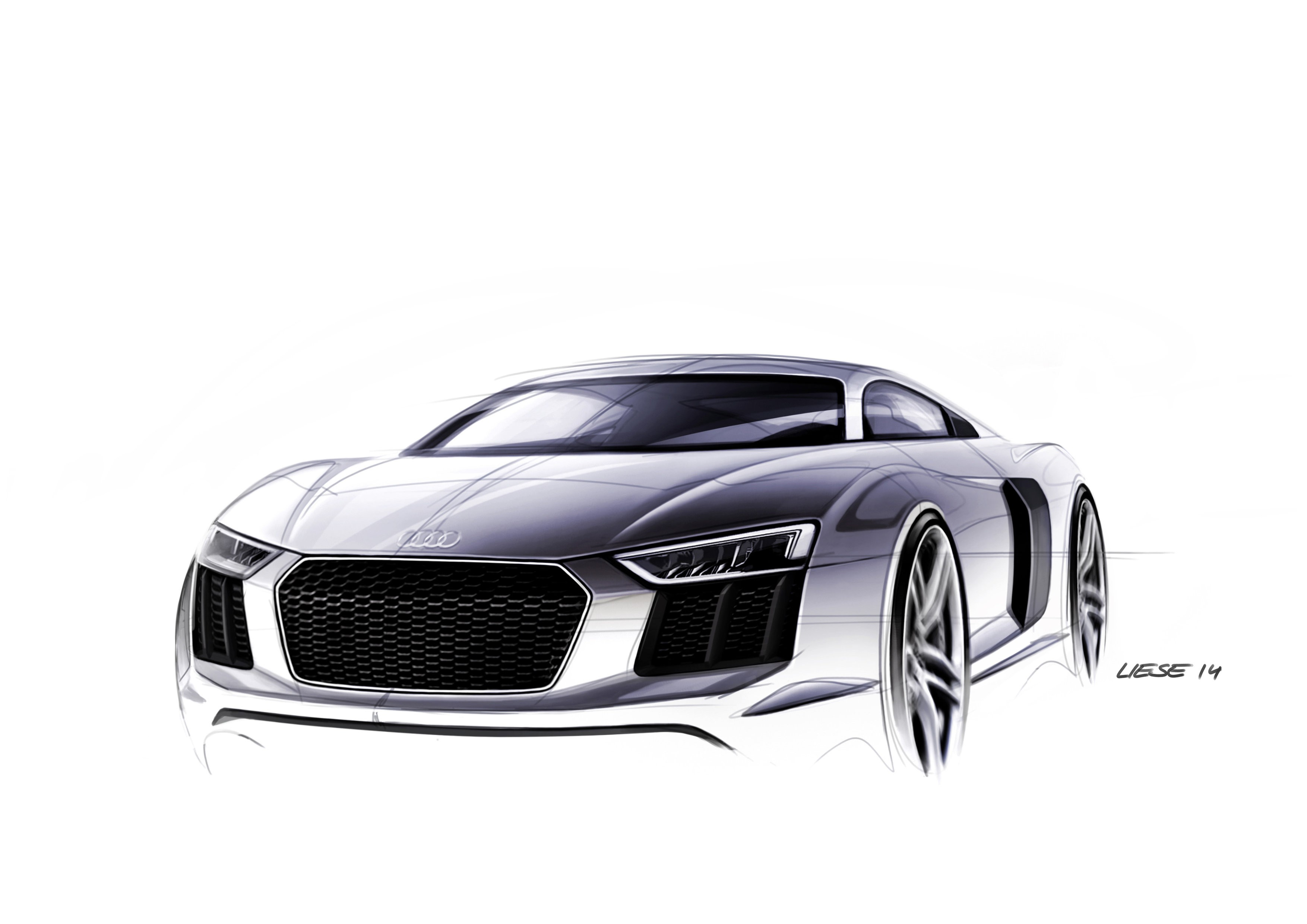 2016 Audi R8 Design Sketches Are Something to Geek Over ...