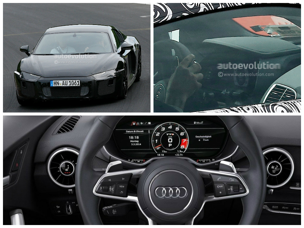 audi 2015 r8 interior. photo comparison between 2016 audi r8 virtual cockpit and 2015 tt digital instrument interior
