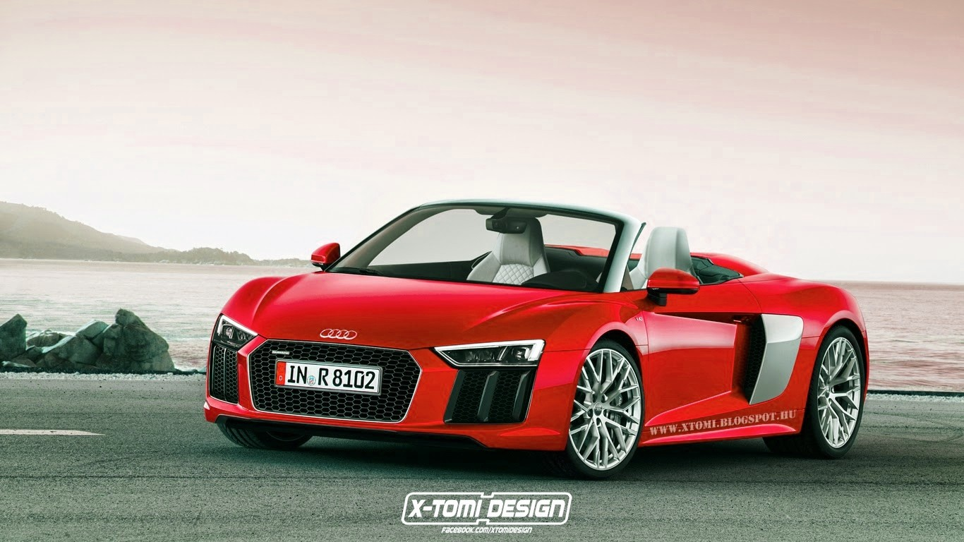 2016 audi r8 spyder rendered in different colors autoevolution. Black Bedroom Furniture Sets. Home Design Ideas
