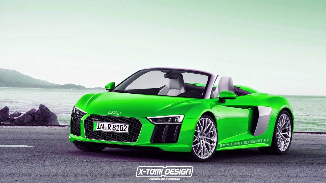 2016 Audi R8 Spyder Rendered… in Different Colors - autoevolution