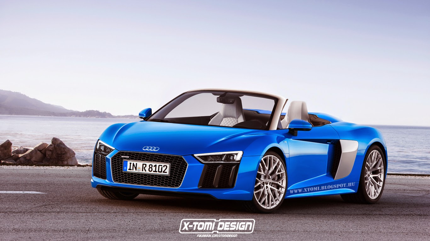 2016 Audi R8 Spyder Rendered In Different Colors
