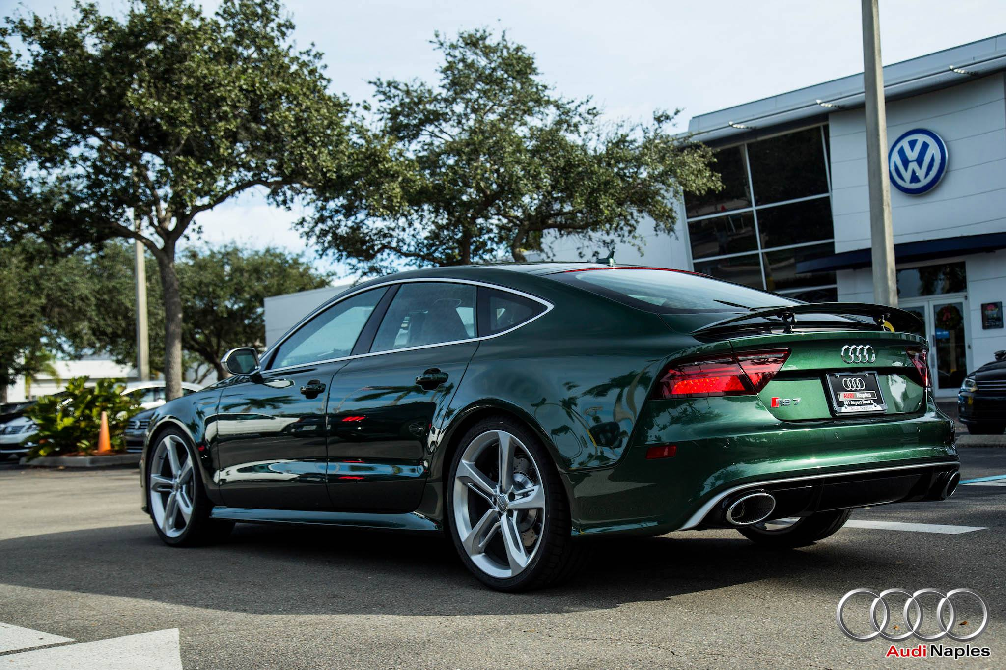 2016 audi rs7 in verdant green looks like a bentley - autoevolution