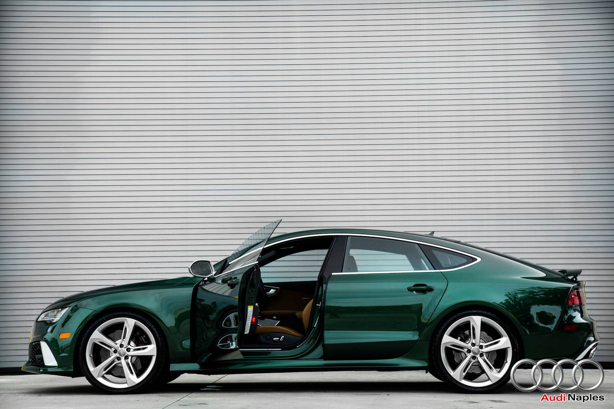 2016 audi rs7 in verdant green looks like a bentley autoevolution rh autoevolution com All-Black Audi RS7 2014 Audi RS7 Sportback