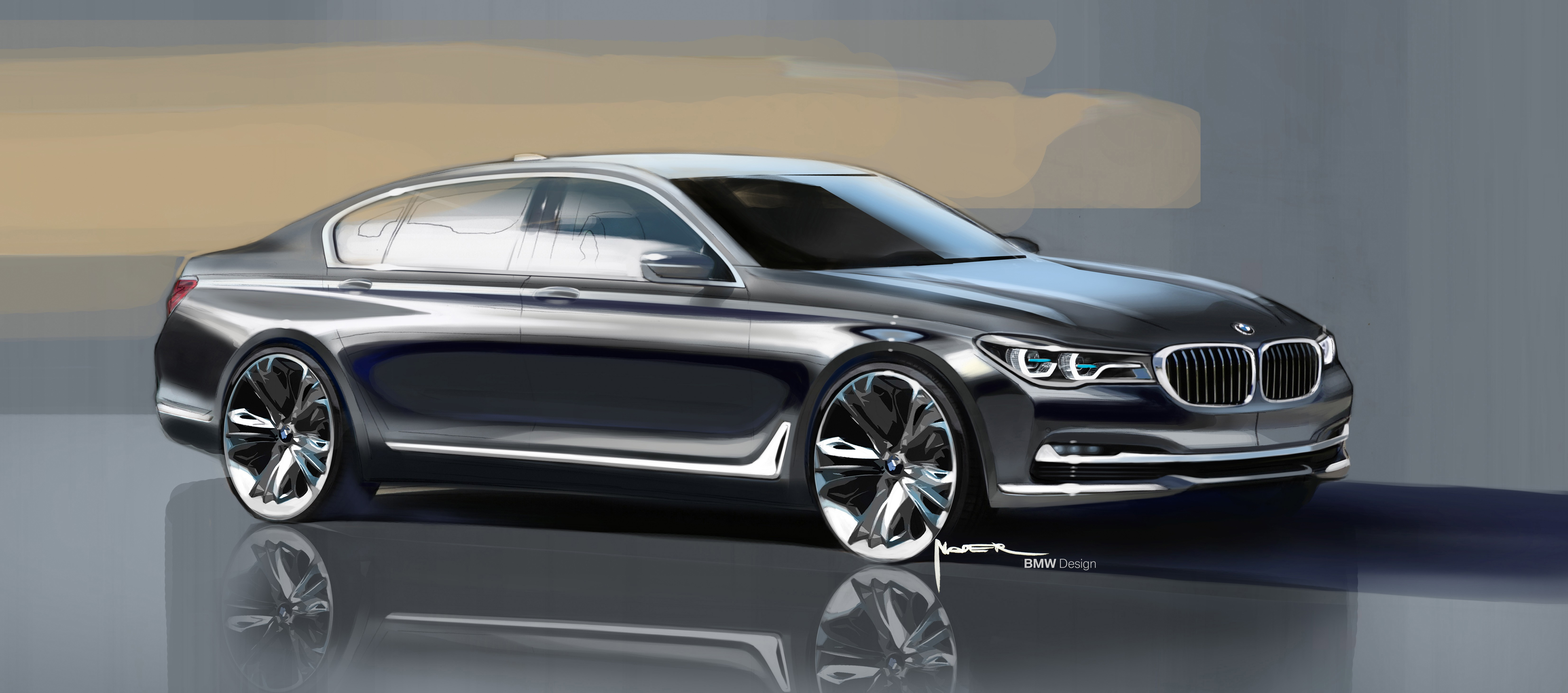 2016 BMW 7 Series Design Sketch