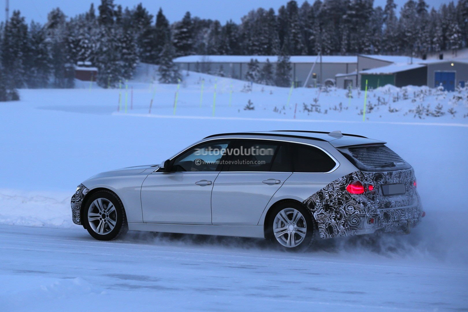 Bmw F Series Touring Facelift Spied Testing In Heavy Snow Photo Gallery on Bmw 5 Series Touring