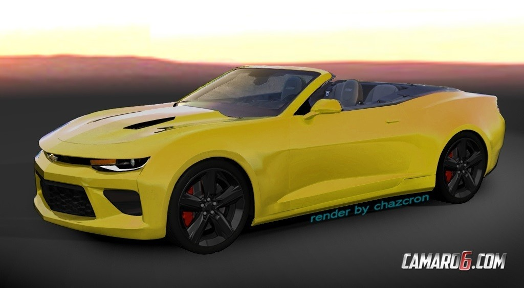 2016 Camaro Convertible Previewed By Realistic Renderings