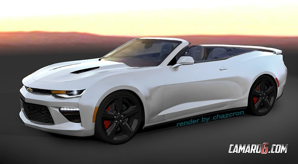 2016 camaro convertible previewed by realistic renderings autoevolution - Camaro 2016 Ss White