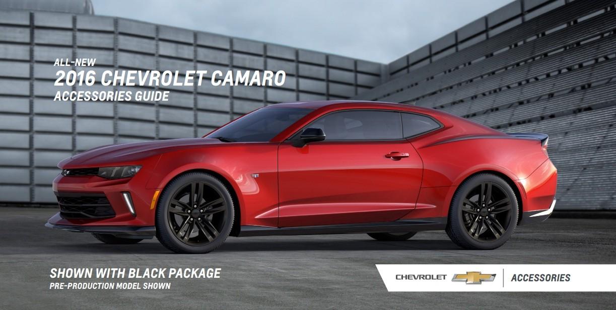 2016 Chevrolet Camaro Accessories Brochure