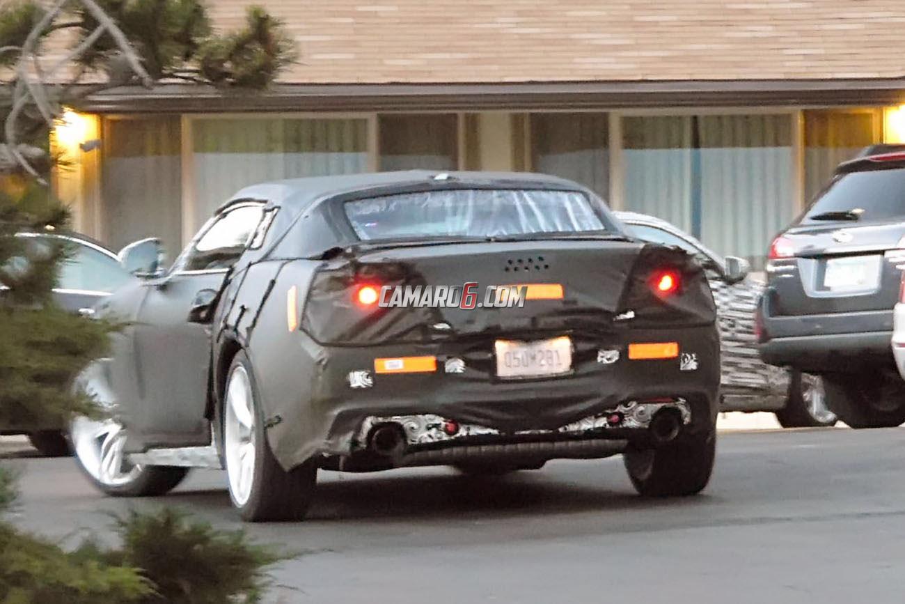 2016 Chevrolet Camaro Convertible Spied Next To Turbo V6