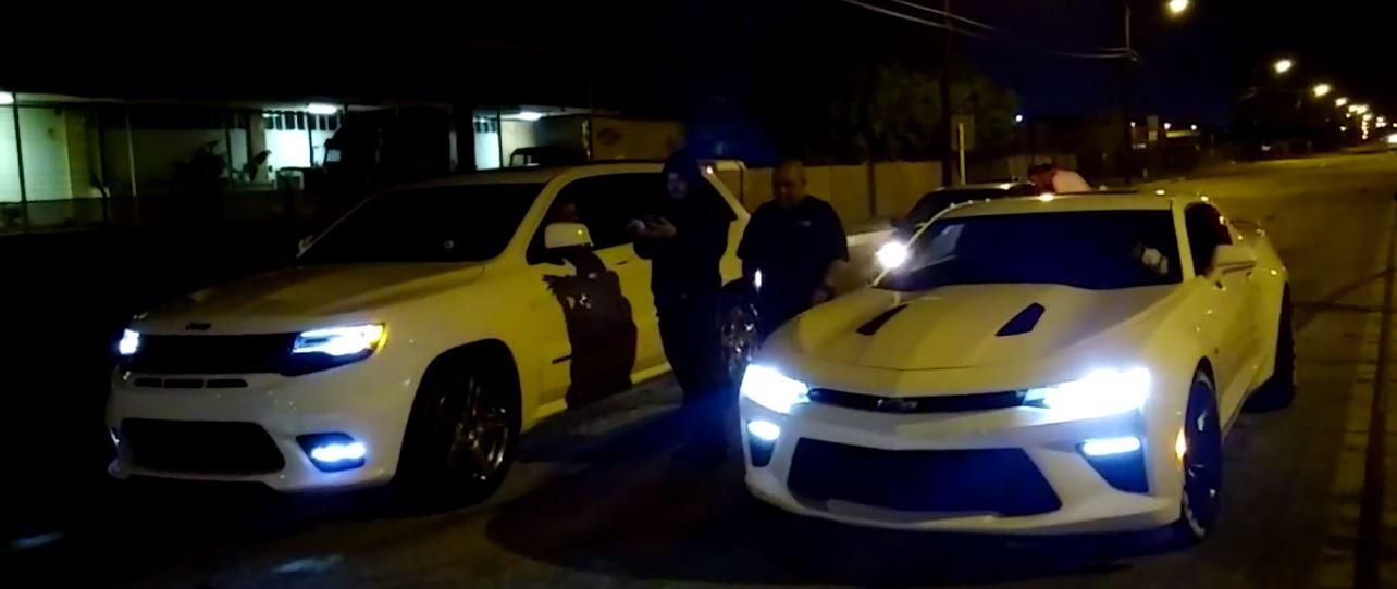 Chevrolet Camaro Ss Vs Jeep Grand Cherokee Srt Drag Race Gets Confusing