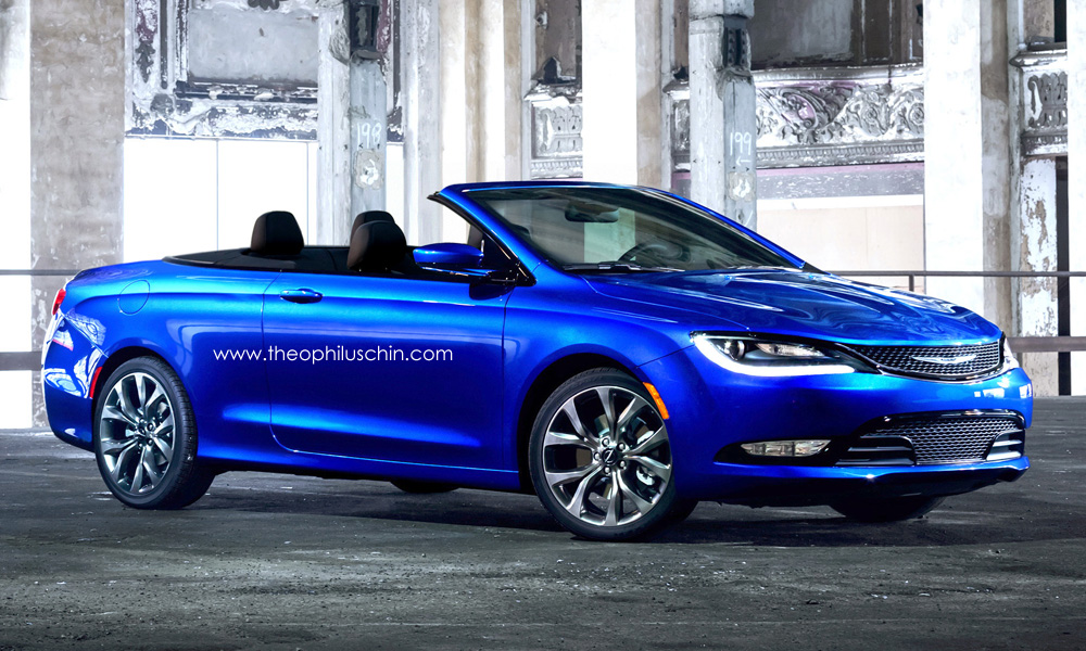 2015 Chrysler 200 Rendered in Convertible Clothing, We Like What We