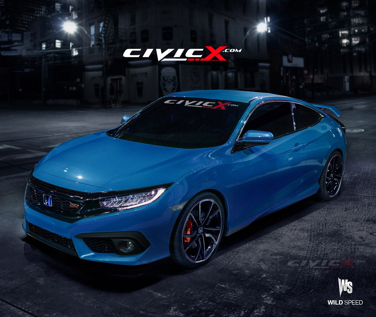 2016 Civic Si Coupe Accurately Rendered. But Is There a Turbo Under the Hood? - autoevolution