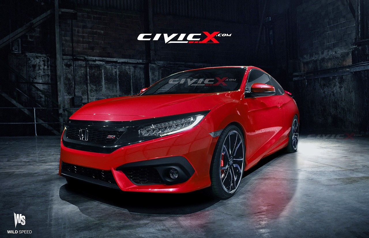 2016 Civic Si Coupe Accurately Rendered. But Is There a ...