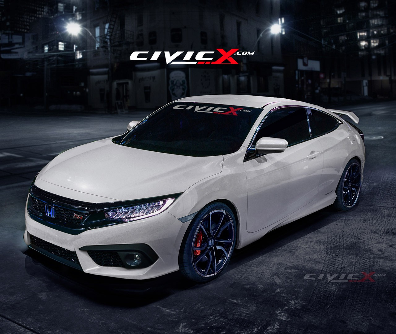 2016 Civic Si Coupe Accurately Rendered. But Is There a Turbo Under