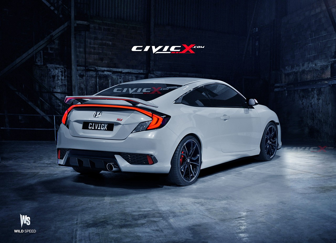2016 civic si coupe accurately rendered but is there a turbo under the hood autoevolution. Black Bedroom Furniture Sets. Home Design Ideas