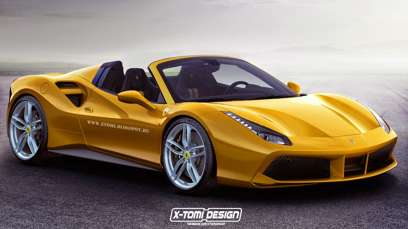 2016 ferrari 488 gts gtb spider rendered autoevolution. Black Bedroom Furniture Sets. Home Design Ideas