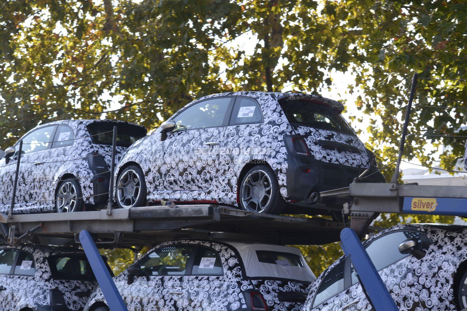 2017 Fiat 500 Abarth 500 Abarth Cabrio Facelift Spied