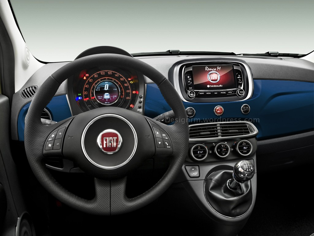 2016 fiat 500 facelift rendering autoevolution. Black Bedroom Furniture Sets. Home Design Ideas