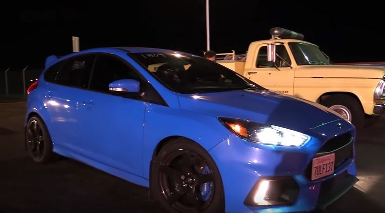 2016 Ford Focus Rs Goes Drag Racing