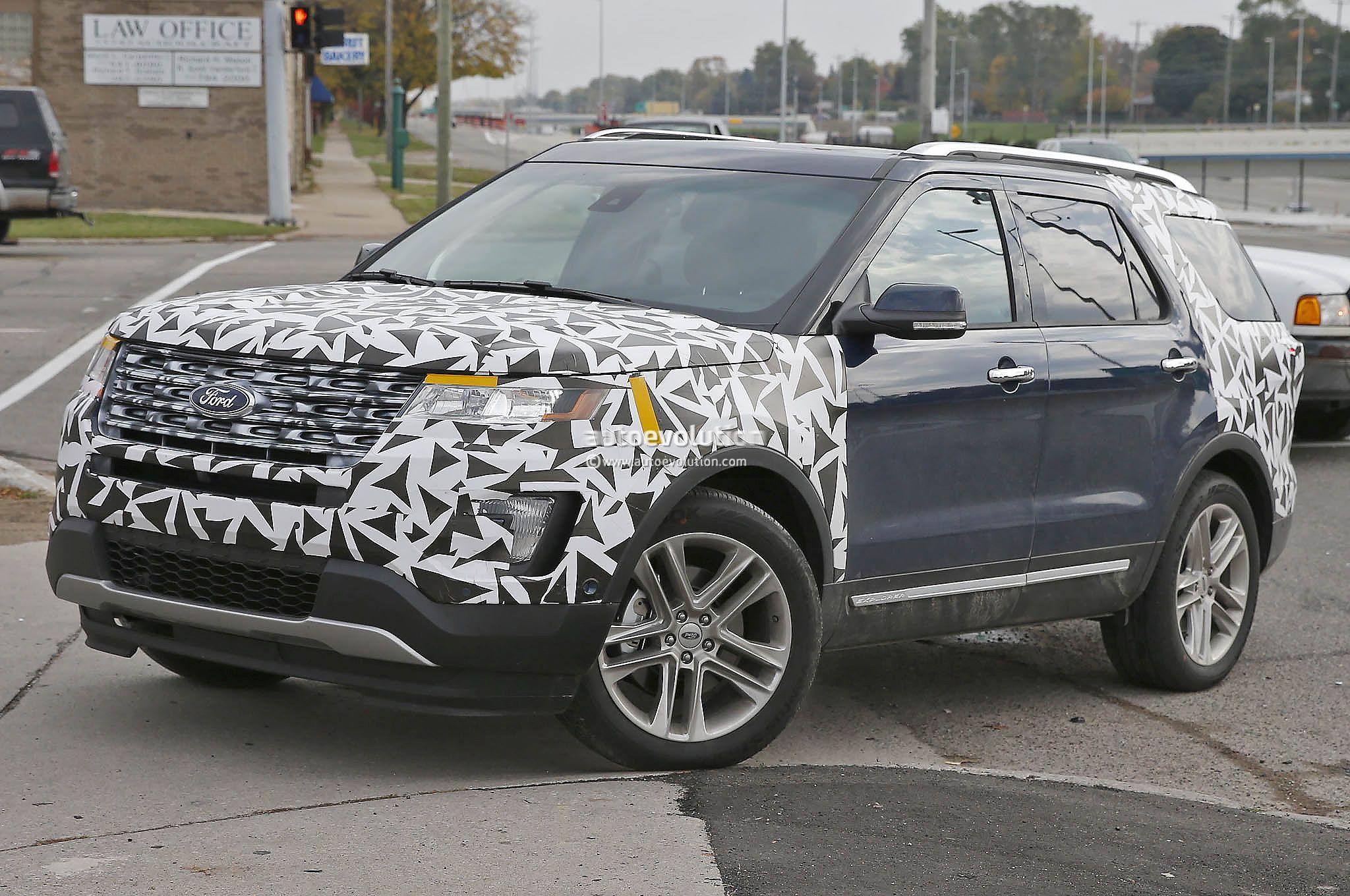 2016 Ford Explorer Spied Nearly Camo Free Autoevolution