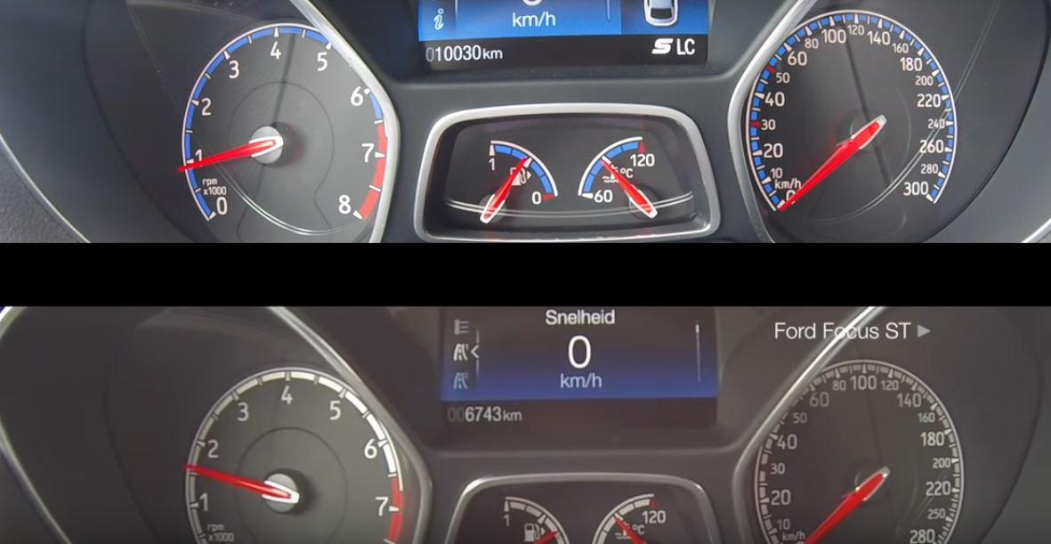 2016 ford focus rs vs focus st acceleration test has bonus autobahn drag race autoevolution. Black Bedroom Furniture Sets. Home Design Ideas