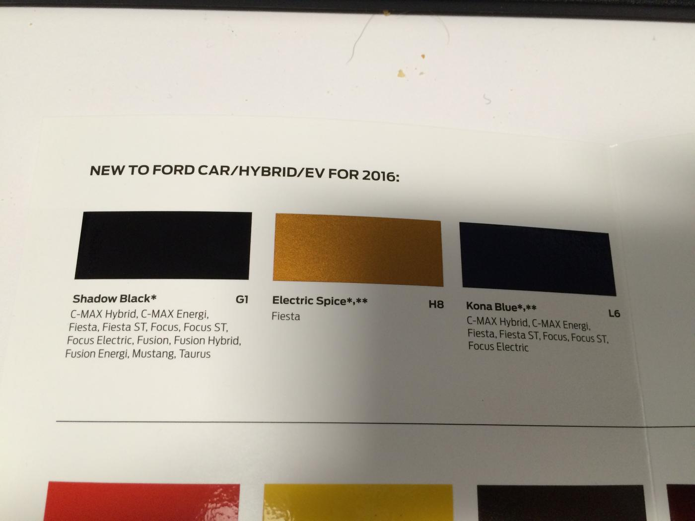 2016 Ford Mustang Colors Brochure Leaked - autoevolution
