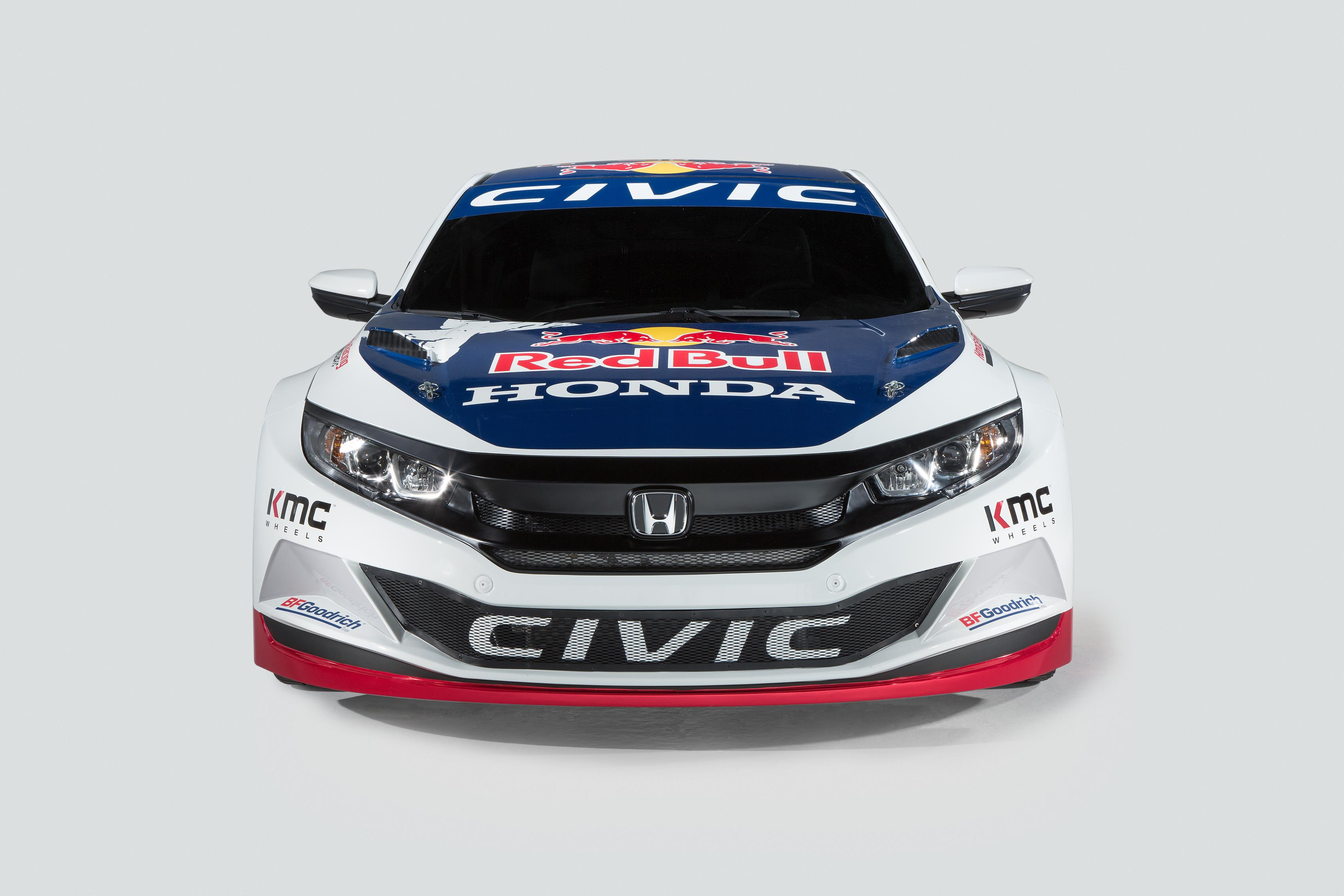 Honda Civic Coupe Red Bull Global Rallycross Race Car Debuts