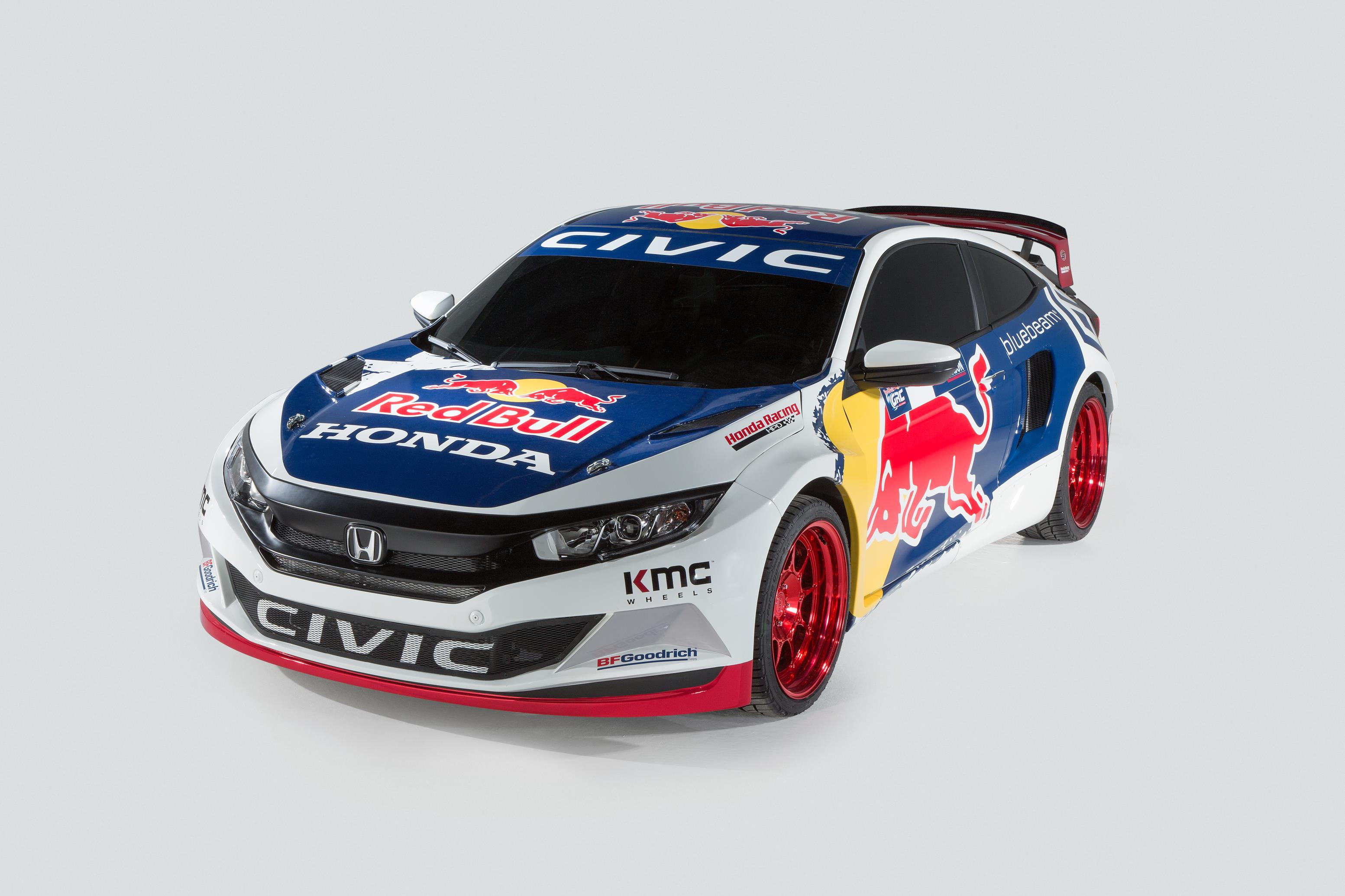 Grc Civic >> 2016 Honda Civic Coupe Red Bull Global Rallycross Race Car Debuts in New York - autoevolution