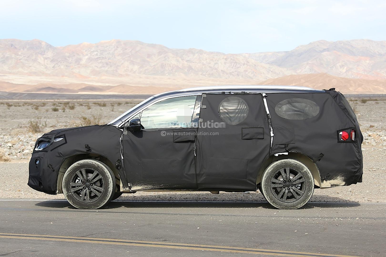 2016 Honda Pilot Spied Testing in the Desert - autoevolution